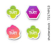 vector sticker for text | Shutterstock .eps vector #72174913