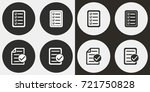 checklist vector icon.... | Shutterstock .eps vector #721750828