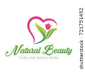 natural beauty logo vector | Shutterstock .eps vector #721751452