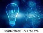 bulb future technology ... | Shutterstock . vector #721751596