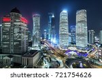 aerial view of shanghai at... | Shutterstock . vector #721754626