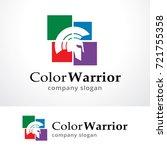 color warrior logo template... | Shutterstock .eps vector #721755358