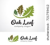 oak leaf logo template design... | Shutterstock .eps vector #721755412