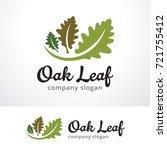 oak leaf logo template design... | Shutterstock .eps vector #721755412