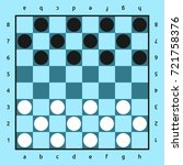 american checkers or russian... | Shutterstock . vector #721758376