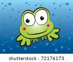 Swimming Frog Cartoon Vector