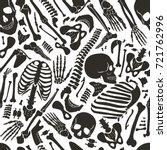 vector human skeleton seamless... | Shutterstock .eps vector #721762996