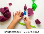 Child's Hands With Colorful...