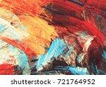 bright artistic splashes.... | Shutterstock . vector #721764952