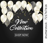 r new collection banner.... | Shutterstock . vector #721767616