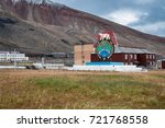pyramiden  norway   august 2017 ... | Shutterstock . vector #721768558