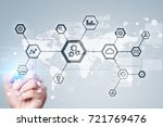 iot  automation  industry 4.0.... | Shutterstock . vector #721769476
