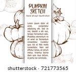 pumpkin sketch hand drawn...   Shutterstock .eps vector #721773565