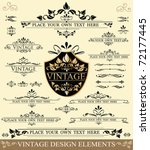 vector set of vintage design... | Shutterstock .eps vector #72177445