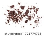 pile chopped  milled chocolate... | Shutterstock . vector #721774735
