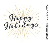 happy holidays vector text icon ... | Shutterstock .eps vector #721778992