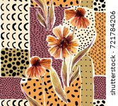 Autumn Watercolor Flowers On...