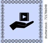 video icon  hand vector... | Shutterstock .eps vector #721786048