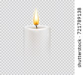 round cylindrical candle with... | Shutterstock .eps vector #721789138