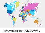 color world map | Shutterstock .eps vector #721789942