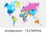 color world map | Shutterstock .eps vector #721789942