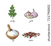 vector flat cartoon sketch hand ... | Shutterstock .eps vector #721790002