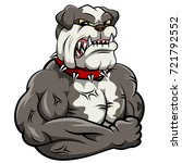angry dog mascot cartoon.... | Shutterstock .eps vector #721792552