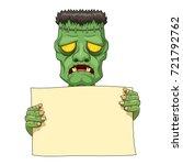 Frankenstein Holding Blank...