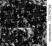 grunge black and white seamless ... | Shutterstock . vector #721795768