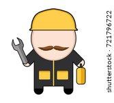 profession character worker.... | Shutterstock .eps vector #721796722