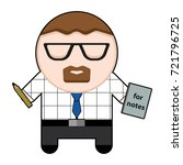 profession character office... | Shutterstock .eps vector #721796725