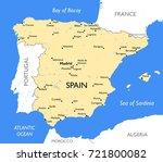 spain map   vector detailed... | Shutterstock .eps vector #721800082