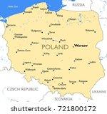 poland map   vector detailed...   Shutterstock .eps vector #721800172