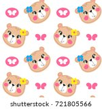 seamless pattern  cartoon cute... | Shutterstock .eps vector #721805566