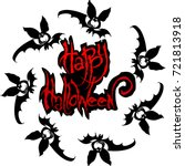 vector illustration halloween... | Shutterstock .eps vector #721813918