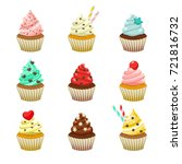 vector icon set of yummy... | Shutterstock .eps vector #721816732