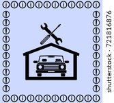 car in the garage icon ... | Shutterstock .eps vector #721816876