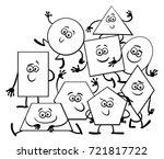 black and white cartoon vector... | Shutterstock .eps vector #721817722