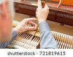professional piano technician...   Shutterstock . vector #721819615
