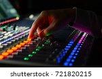 engener is tuning sound mixer | Shutterstock . vector #721820215
