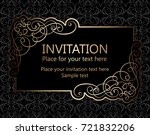 vintage baroque gold invitation ... | Shutterstock .eps vector #721832206