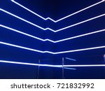 neon lights on a blue background | Shutterstock . vector #721832992