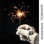 festive merry christmas...   Shutterstock . vector #721842655