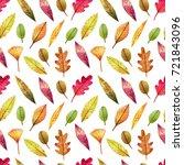 seamless watercolor pattern on... | Shutterstock . vector #721843096