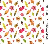 seamless watercolor pattern on... | Shutterstock . vector #721843102