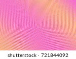 pink yellow dotted halftone... | Shutterstock .eps vector #721844092