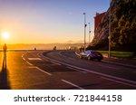 road on coastline in nice  cote ... | Shutterstock . vector #721844158