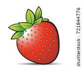 red color strawberry fruit with ... | Shutterstock .eps vector #721844776