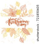 vector thanksgiving greeting... | Shutterstock .eps vector #721850605