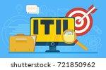 it infrastructure library.... | Shutterstock . vector #721850962